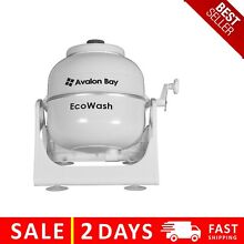Ecowash Portable Hand Cranked Manual Clothes Non Electric Washing Machine by