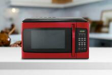 1 1 Cu FT Kitchen Microwave Oven 1000W LED Display Red Child Safe 10 Power New