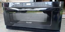 Sharp insight pro black built in microwave  slide out drawer 30  inches  Kb6015