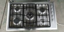 Fisher   Paykel Stainless Steel 36 in  Gas Gas Cooktop telescopic downdraft read