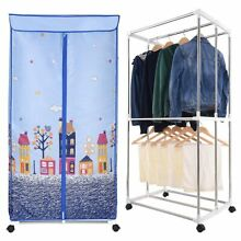 Portable Clothes Dryer Electric Heater Wardrobe Laundry Rack Machine Holds 44lbs