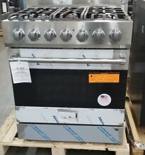 NEW OUT OF BOX VIKING 30  DUAL FUEL RANGE 5 BURNER STAINLESS STEEL