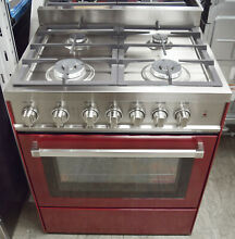 Verona VEFSGG304BU 30  Freestanding Gas Convection Range in Burgundy