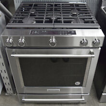 KitchenAid KSGG700ESS 30  Stainless Steel Slide In Gas Range