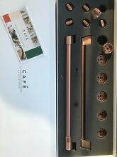 GE Cafe Series Handle and Knob Kit for Range in Brushed Copper