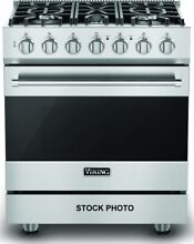 NEVER USED VIKING 30  DUAL FUEL FREESTANDING RANGE STAINLESS  IN BOX