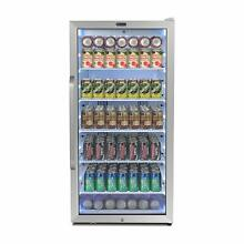 Whynter Freestanding 8 1 cu  ft  Stainless Steel Commercial Beverage Merchandise