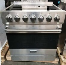 VIKING 30  ELECTRIC SMOOTHTOP RANGE STAINLESS STEEL 5 RADIANT BURNERS PRO HANDLE