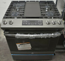 GE JGSS66EELES 30  Slide In Gas Range Slate