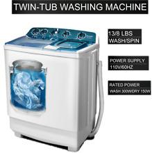 Two Tub Portable Washing Machine Spin Wash 21Lbs Capacity Compact Laundry New