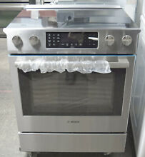 Bosch 800 Series HEI8054U 30  Slide in Smoothtop Electric Range