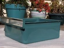 Vintage Metal Turquoise Enamel Refrigerator Crisper Vegetable Fruit Drawer