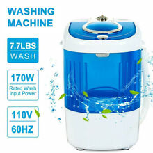 Portable Washing Machine Compact Laundry Spinner Washer 7 7LBS Gravity Drain