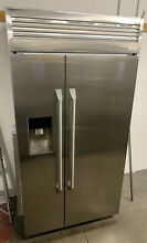 MONOGRAM ZISP420DKCSS 42  BUILT IN SIDE BY SIDE REFRIGERATOR FREEZER STAINLESS
