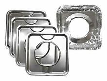 Range Kleen Chrome Square Range Drip Pan Yellow Label  4 pack  WITH 8 Foil