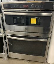 GE Profile 30  Stainless Steel Built In Wall Oven Microwave Combo PT7800SHSS