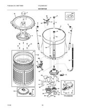 Frigidaire 5304517318 TRANSMISSION ASSEMBLY  W O RING  5 on diagram picture
