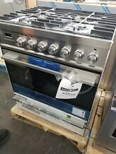 NEW OUT OF BOX FISHER PAYKEL 30  DUAL FUEL STAINLESS STEEL RANGE
