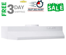 BROAN Range Hood Insert Under Cabinet Exhaust Fan White 6 0 Sones 190 CFM 30 in