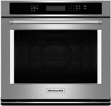 KitchenAid 30  Stainless Steel Single Wall Oven KOSE500ESS