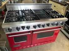 Viking 48  Dual Fuel Stove  Electric Ovens  Gas Grill   Sealed Brass Burners