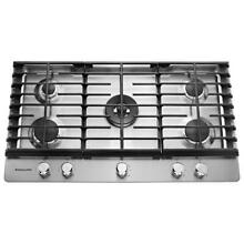 NEW Kitchenaid KCGS556ESS 36  5 Burner Gas Cooktop Stainless Steel
