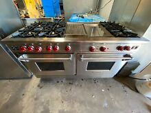 Wolf 60  Gas Range  R606 6 Brass Burners  Grill  Griddle  2 Ovens  Stainless