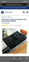 GE PGP989DNBB Profile Series Gas Cooktop Downdraft Included