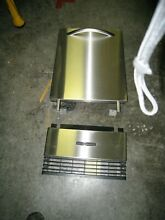KitchenAid KUIS18 Stainless Undercounter Ice Maker front door and bottom grill