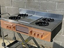 Chambers Vintage Built In Range Top Mid Centery Modern Copper Stove 1950s Refurb