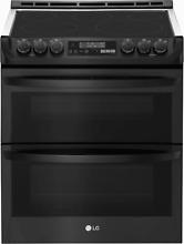LG 7 3 Cu  Ft  Smart Wi fi Enabled Electric Double Oven Slide In Range