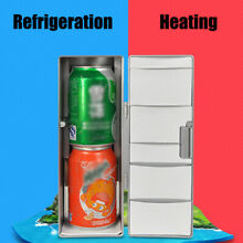 Mini Refrigerator Portable USB Fridge Beverage Drink Cans Beer Cooler Warmer