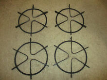 Set of 4 Round Cast Iron Gas Burner Metal Grates for Gas stove top