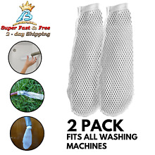 Washer Washing Machine Nylon Lint Trap Mesh Discharge Hoses Catcher 2 Pack NEW