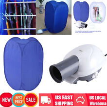800W Portable Electric Air Clothes Dryer Folding Fast Drying Machine Bag Clean