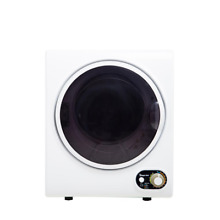 Compact Electric Dryer Space Saver Laundry 1 5 cu  ft Apartments Dorms White Hot