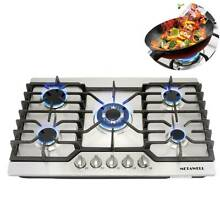 30  Stainless Steel COOKTOP Built in 5 Burner Stoves LPG NG Gas Hob Cooktops USA