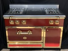 Diva De Provence 48  Red Hand Crafted  Gold Trimmed Stove  A French Luxury Range