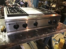 36  Stainless Pro Style Gas 4 Burner Rangetop With Center Griddle