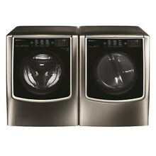LG SIGNATURE Smart Wi Fi Stackable Washer 5 8CF   Dryer 9 CF Black Stainless