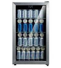 Arctic King 115 Can Beverage Refrigerator Cooler Stainless Steel Glass Door NEW