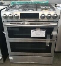 NEVER USED OUT OF BOX SAMSUNG 30  FLEX DUO SLIDE IN GAS RANGE STAINLESS STEEL