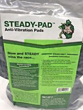 STEADY PAD Anti Vibration and Anti Walk Washer and Dryer Pads Set of 4 NEW