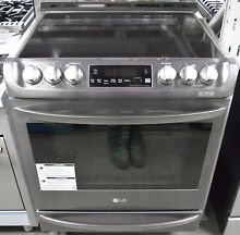 LG LSE4613BD 30  Slide in Electric Range with ProBake Convection