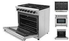 36 inch Freestanding Pro Style Professional Gas Range with 6 0 cu ft  Oven  6 B