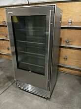 SUB ZERO   SUBZERO   SUB ZERO REFRIGERATOR 601 RG WITH GLASS DOOR SUPER RARE