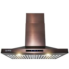 30 in  Convertible Wall Mount Copper Stainless Steel Kitchen Range Hood