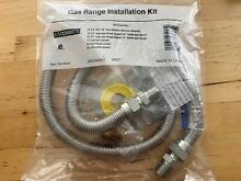 48  Stainless Steel Range Gas Connector Kit 5 8  69014HDN