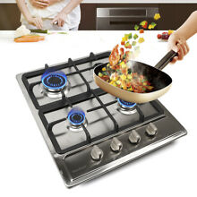 34 23  Stainless Steel Built in Gas Cooktop 4 High Powered Burners Gas Stove US