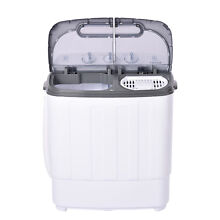 Mini Washing Machine Compact Twin Tub Washer Spin Dryer 13 5 LBS Dorm Apartment